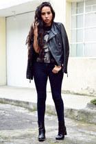 black ankle boots Zara boots - black skinny jeans Zara jeans