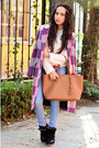 Red-plaid-zara-coat-sky-blue-denim-bershka-jeans-white-jersey-zara-sweater