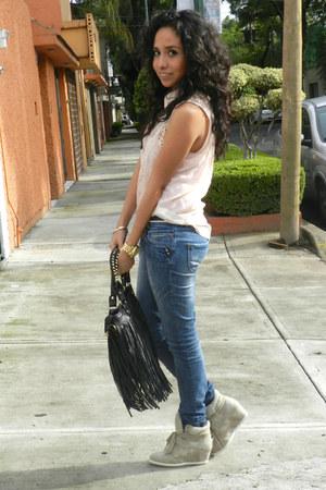 GoJane sneakers - pull&bear jeans - OASAP bag - Zara blouse