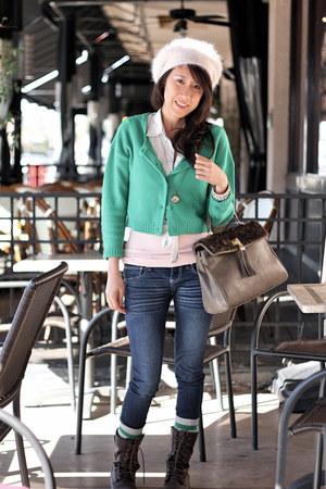 H&M sweater - Zara shirt - Aldo bag