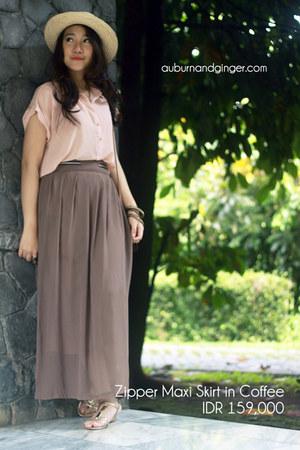 maxi skirt Auburn & Ginger skirt - chiffon Auburn & Ginger shirt