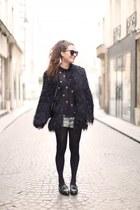 black asos coat - light blue Topshop shorts