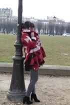 Zara coat - American Apparel dress - Zara tights - The Kooples boots