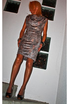 tan lurex dress La Couture dAudreyMG dress - bronze H&M bracelet