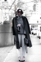 grey JollyChic coat - oversized OAK  FORT sweater - trousers OAK  FORT pants