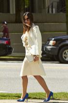 white Zara blazer - white Aldo bag - white Zara skirt