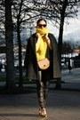 Oversized-mango-coat-yellow-banana-republic-sweater-leather-mango-leggings