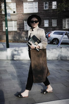 NA-KD coat - Topshop hat - vintage bag - trousers NA-KD pants - Zara flats