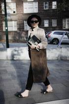 NA-KD coat - Topshop hat - vintage bag - trousers NA-KD pants - Zara flats