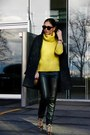 Oversized-mango-coat-yellow-banana-republic-sweater-leather-mango-leggings
