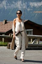 vest Zara coat - crossbody bag Louis Vuitton bag - shoes heels