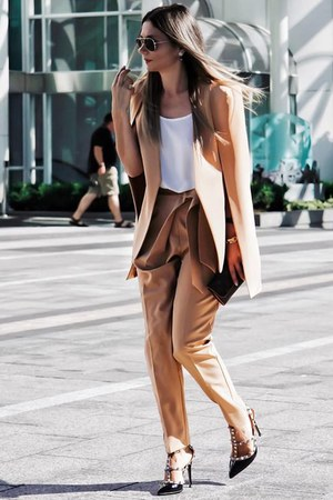 cape asos blazer - Louis Vuitton bag - trousers asos pants