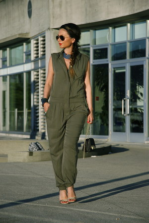 jumpsuit Forever 21 bodysuit - crossbody Zac Posen bag - sandals Topshop heels