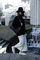 black Gucci bag - oversized Aritzia sweater - loafers Shellys London flats