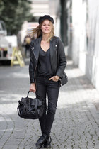 leather jacket H&M Trend jacket - PROENZA SCHOULER bag - COS t-shirt