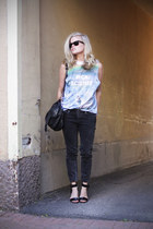 weekday jeans - PROENZA SCHOULER bag - whyred sandals - weekday top