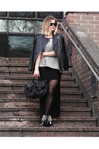 Zara sweater - PROENZA SCHOULER bag - Diane Von Furstenberg heels
