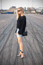 navy whyred sweater - black PROENZA SCHOULER bag - ALTUZARRA sandals