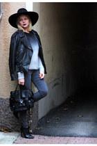 H&M jumper - Din Sko boots - Topshop jeans - Zara hat - PROENZA SCHOULER bag