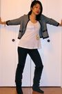 Blue-h-m-cardigan-black-7-for-all-mankind-pants-black-steve-madden-boots-w