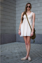 eggshell Urban Outfitters dress