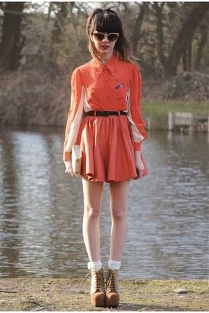 Gallo by Thian blouse - litas Jeffrey Campbell heels - markets skirt