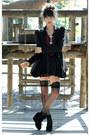Black-bardot-dress-black-bardot-blazer-crimson-bardot-shirt-black-trendy-z