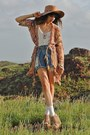 Tan-topshop-hat-pink-thrifted-jacket-sky-blue-one-teaspoon-shorts-off-whit