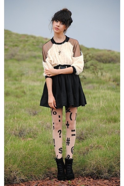 black American Apparel tights - cream httpwwwwholesale-dressnetsearchphpencodeYT