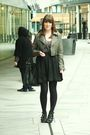 Silver-new-look-jacket-brown-h-m-skirt-topshop-top-black-asos-shoes-blac