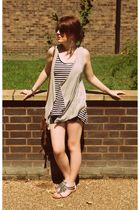 green Topshop vest - black Topshop shorts