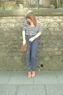 White-topshop-top-new-look-pants-river-island-purse-brown-new-look-shoes