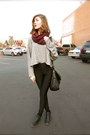 American-apparel-shirt-maroon-american-apparel-scarf-black-asos-pants