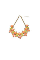 Sunshine Bib Necklace - Orange