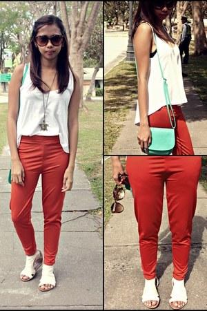 tawny bazzar leggings - white Market top