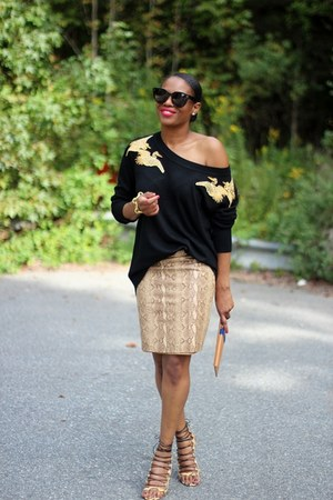 Altuzarra for target sweater - AQUAZZAURA shoes - BKYO bag - danier skirt