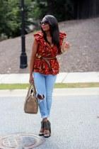 Ladyee Boutique top - Joes Jeans jeans - Celine bag - Prada sunglasses