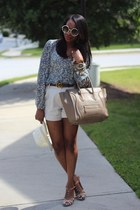 philip lim shorts - Tom Ford sunglasses - banana republic blouse