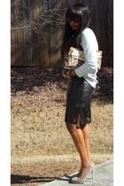 Danierleather skirt - Prada sunglasses
