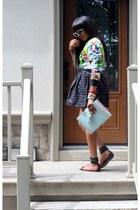 Celine bag - Dolce & Gabbana sunglasses - Gucci sandals