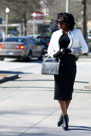 snowman jacket - christian dior bag - asos skirt