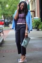 H&M blazer - 31 Phillip Lim pants - JCrew pumps - Burberry top
