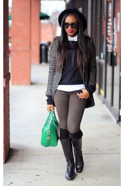 Prada boots - Hudson jeans - smythe jacket - Celine sunglasses