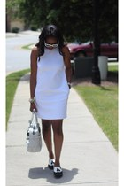 Zara dress - Reed Krakoff bag - Prada sunglasses