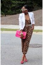 manolo blahink shoes - Prada sunglasses - Ladyee Boutique jumper