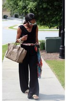 roberto cavalli scarf - Gucci shoes - Celine bag - Prada sunglasses