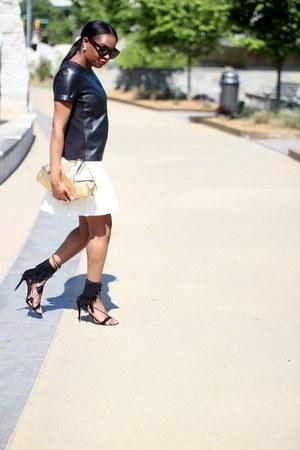Alexander McQueen bag - Celine sunglasses - bcbg max azria skirt