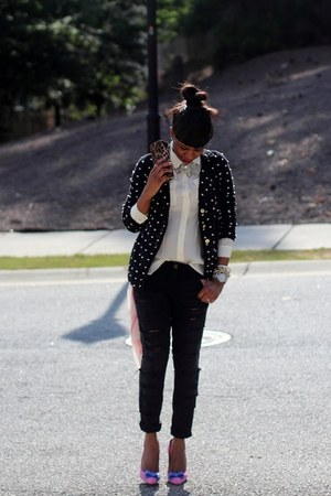 current and elliot jeans - Dolce and Gabbana sunglasses - J Crew top