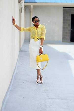 Celine sunglasses - dvf top - asos skirt