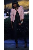 J Crew jacket - J Brand jeans - Christian Louboutin pumps